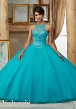Custom Quinceanera Dress Party Evening Ball Formal Prom Dresses Wedding Gown