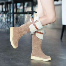 New Womens Winter Boots Girls High Shoes Ladies Fur Lined Warm Snow Ankle Boots