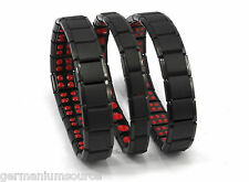 Titanium Bracelet Power Nano Energy Germanium Magnetic Balance Ion Health Black
