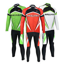 Long Sleeved Breathable Suit Bicycle Bike Cycling Clothing Jersey Tights & Pants