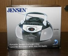 JENSEN #CD-545 PORTABLE STEREO CD CASSETTE RECORDER W/RADIO - LOWER SHIP!