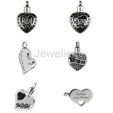 Dad Mom Stainless Steel Keepsake Cremation Jewelry Pet Urn Pendant Ash Holder