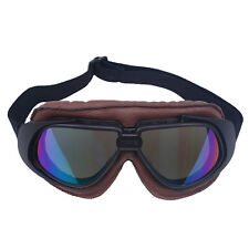 Aviator Pilot Cruiser Motorcycle Scooter Goggles Retro Helmet For Harley Anti-UV