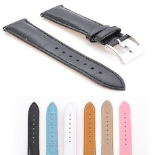 20mm Crocodile Alligator Grain Genuine Calf Leather Watch Band Strap + Tools