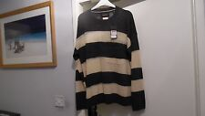 MAISON SCOTCH Jumper Top Striped Size 3 Large Size 4 Xlarge BNWT RRP £89.95