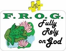 F.R.O.G. Fully Rely On God Decal/Stickers