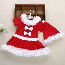 2pcs Girl Child  Lace Bowknot Ruffle Round Collar Short Sleeve Skirt Dress Hat