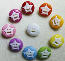 Star Smiley buttons many colours available Sewing Scrap-booking Crafts