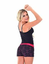 Women's Two Piece PJ with Tank Top & Short -Camisole & Short Pajama SET - Cherry