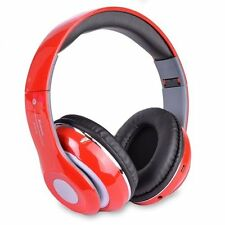 Bluetooth Wireless Folding Headphones with Built In FM Tuner Memory Card Slot