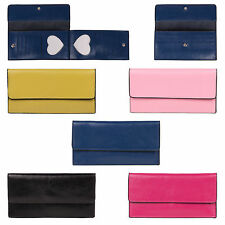 Selection of high quality real leather bi fold card holder women's purses