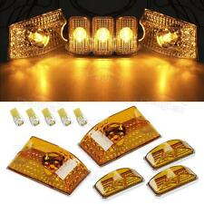 5xAmber 264160AM Cab Roof Crystal Chrome Lights+Amber 5730 194 LED for Hummer H2
