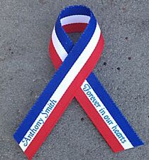 Personalized Patriotic Printed Ribbons Veterans Day Election Memorial Service