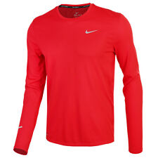 Nike Men's Dri-Fit Contour Long Sleeve Tee Training Top Shirts Red 683522-658