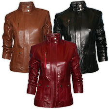 Ladies Gorgeous Soft Nappa Fitted Real Leather Casual Jacket In 3 Colours