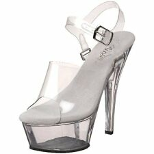 Pleaser KISS-208DAS/C/M Womens Kiss-208DAS Platform Sandal- Choose SZ/Color.