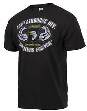 101st Airborne Division Vintage Black Brothers Forever  T-Shirt Mens Military