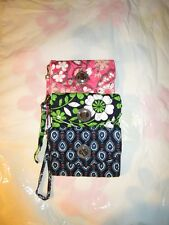 VERA BRADLEY Your Turn Smartphone Wristlet Case FREE SHIP Lucky You Blush Pink