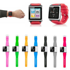8 Color Bracelet Watch Band Wrist Strap Case Silica Gel For iPod Nano 6  6th
