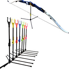 1X Archery Bow Stand Recurve Bows Rack Fiberglass Bow Holder Shooting Accessory
