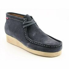 CLARKS - 30258 Clarks Padmore Mens SZGray Steel Blue Casual Boots Shoes