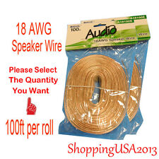 All Selection 100ft 18 Awg ag Gauge Audio Speaker Wire Cooper Cable Home Theater