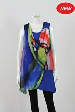 BNWT WHISPERS SLVLESS LAYER TUNIC BLUE SIZE S/12 to XXL/20