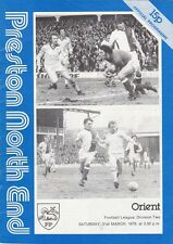 Preston North End HOME PROGRAMMES 1970s - Choose from list