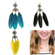 Feather Tassel Dream Catcher Crystal Rhinestone charming ornament Ear earrings