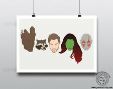 GUARDIANS GALAXY - Minimal Movie Heads Minimal Movie Poster Posteritty Groot