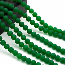 Matte Round Green Dye Jade Beads, necklace Bracelet Jewelry Design 6/8/10mm