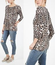 TOPSHOP Animal Leopard Print Jumper Top Size 8 to 16