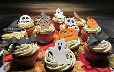 Handmade Fondant Icing Spooky Halloween Cake/Cupcake Toppers & Letters