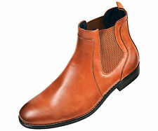 Amali Mens Cognac Brown Smooth Double Gore Slip On Chelsea Boots Style Provo-215