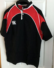 Canterbury Rugby Mens Short Sleeved  Black / Red Rugby Shirt -  Various Sizes