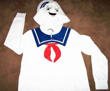 STAY-PUFT MARSHMALLOW MAN GHOSTBUSTERS ADULT SLEEPWEAR PJ'S COSTUME NEW W/TAGS
