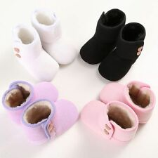 Winter Warm Girl Boy Baby Prewalker Crib Shoes Boots Toddler Knit Snow Booties