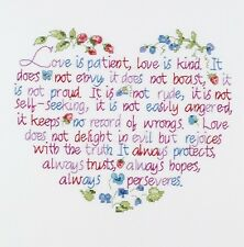 Janlynn Stamped Cross Stitch Kit, Love Is Patient. Free Delivery