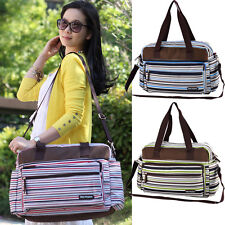 Women Mummy Bag Diaper Nappy Changing Pack Shouder Bag Handbag With Stripes New