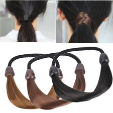 New Women's Braid Straight Wig Elastic Hair Band Rope Scrunchie Ponytail Holder