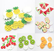 10Pcs Fashion Fruit Plastic Broochs Lovely Badge Brooch Accessories Pin DIY