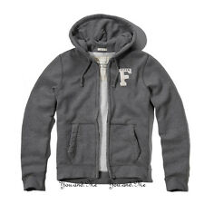 NEW ABERCROMBIE & FITCH MEN * A&F Wanika Falls Hoodie Zip Jacket * Heather Grey