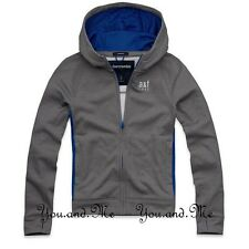 NEW ABERCROMBIE & FITCH KIDS * A&F Boys ATHLETIC Hoodie Jacket * Grey * M L XL