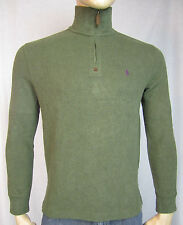 NWT Men's Polo Ralph Lauren French Rib Half Zip 1/2 Pullover Sweater Green S
