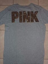 VICTORIAS SECRET PINK RARE BLING CAMPUS LIMITED ED SCOOPNECK/CREW TEESHIRT NWT