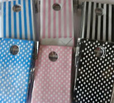 stripe polka dots party bags favour birthday unisex blue pink black lolly buffet