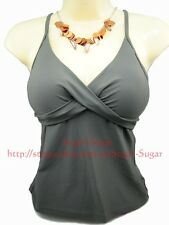 SEAFOLLY Wrap Front Soft Cup Singlet ~Size 10, 12, 14, 16~