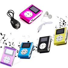 Mini Clip MP3 Player LCD Screen Support 32GB Micro SD TF Card Recharge+ Earphone