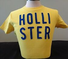 NEW MENS HOLLISTER S/S GRAPHIC T-SHIRT, YELLOW, PICK SIZE, ABERCROMBIE & FITCH