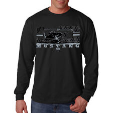 Ford Mustang Honeycomb Grill Classic Muscle Car Hot Rod Long Sleeve T-Shirt Tee